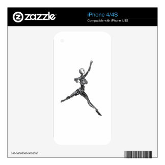 Cyborg Robot in Jete Form iPhone 4 Skin