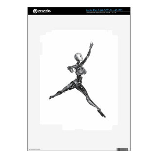 Cyborg Robot in Jete Form Skins For iPad 3