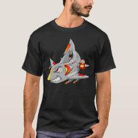 Cyborg Robot Shark T-Shirt