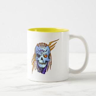 Cyborg Robot Soldier Two-Tone Coffee Mug