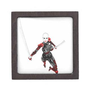 Cyborg Samurai Attacks Jewelry Box
