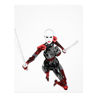Cyborg Samurai Attacks Letterhead