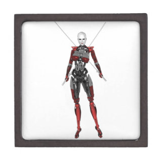 Cyborg Samurai Walking with Two Swords Jewelry Box