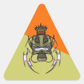 Cyborg Skull Battle Triangle Sticker