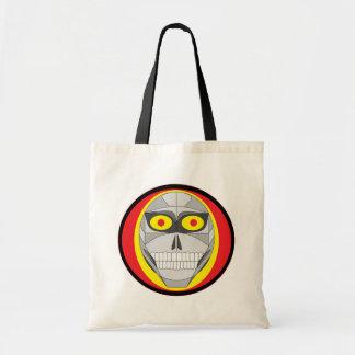 Cyborg Skull Grocery Bag-Version 2