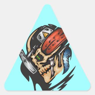 Cyborg Skull In Battle Triangle Sticker