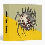 Cyborg Skull Spiders 3 Ring Binders