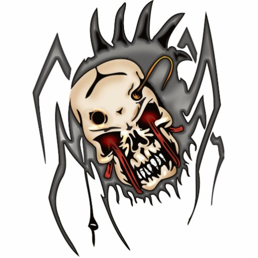 Cyborg Skull Spiders Cut Out