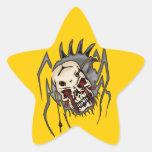 Cyborg Skull Spiders Star Stickers