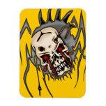 Cyborg Skull Spiders Vinyl Magnet