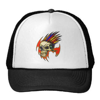 Cyborg Skull With Feathers Trucker Hat