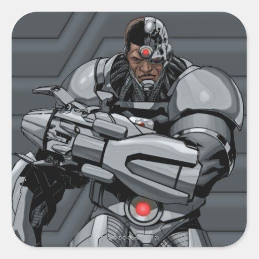 Cyborg Square Stickers
