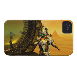 CYBORG TITAN,DESERT HYPERION Science Fiction Scifi iPhone 4 Covers