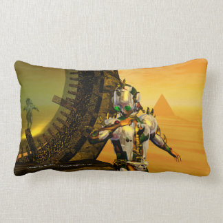 CYBORG TITAN,DESERT HYPERION Science Fiction Scifi Lumbar Pillow