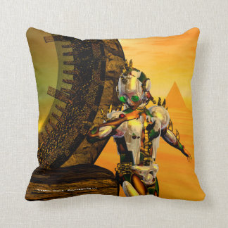 CYBORG TITAN,DESERT HYPERION Science Fiction Scifi Throw Pillow