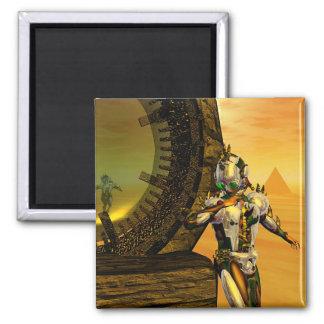 CYBORG TITAN IN DESERT HYPERION Science Fiction, Magnet