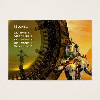 CYBORG TITAN IN DESERT OF HYPERION / Reflections Business Card