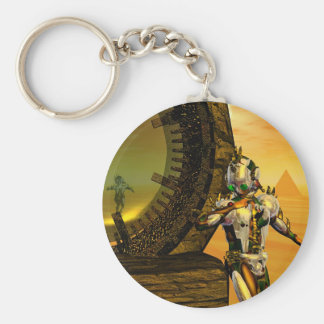 CYBORG TITAN IN DESERT OF HYPERION Science Fiction Keychain