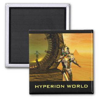 CYBORG TITAN IN DESERT OF HYPERION Science Fiction Magnet