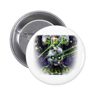 cyborg-tshirt pinback buttons