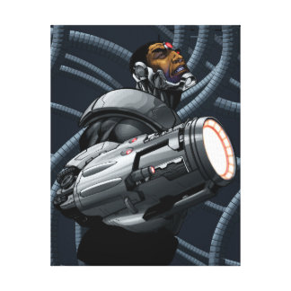 Cyborg & Weapon Bust Canvas Print