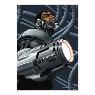 Cyborg & Weapon Bust 5x7 Paper Invitation Card
