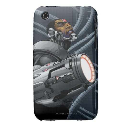 Cyborg & Weapon Bust iPhone 3 Case-Mate Case