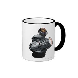 Cyborg & Weapon Bust Ringer Coffee Mug