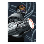 Cyborg & Weapon Bust Personalized Invite