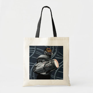 Cyborg & Weapon Bust Tote Bag