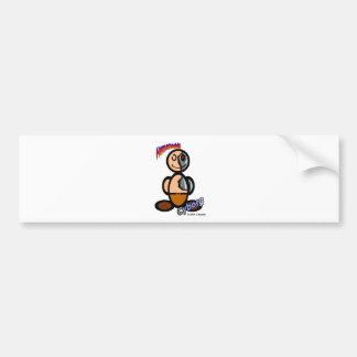 Cyborg (with logos) bumper sticker