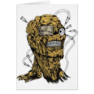 Cyborg Zombie Greeting Card