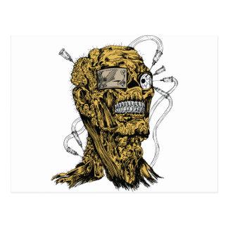 Cyborg Zombie Postcard