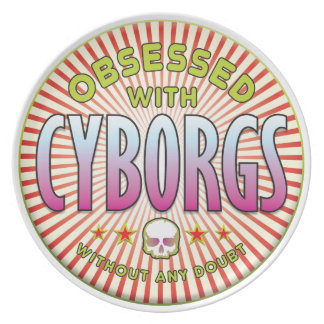 Cyborgs Obsessed R Party Plates