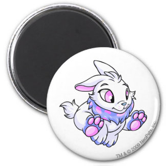 Cybunny Blue 2 Inch Round Magnet