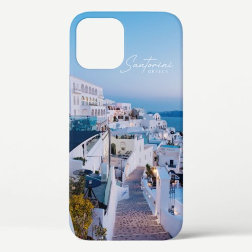 Cyclades Santorini Greece Poster iPhone 12 Pro Case