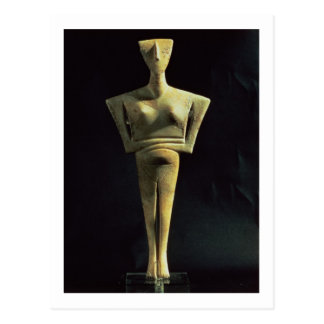 Cycladic female figure, from the Island of Amorgo, Postcard