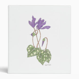 Cyclamen 3 Ring Binder