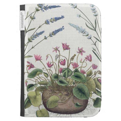 Cyclamen and Lavender: 1.Cyclamen Romanum; 2.Spica Kindle Folio Cases