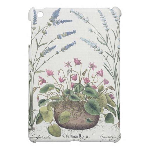 Cyclamen and Lavender: 1.Cyclamen Romanum; 2.Spica iPad Mini Cover