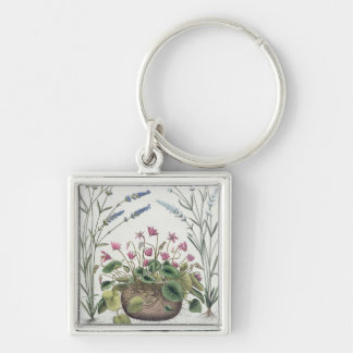 Cyclamen and Lavender: 1.Cyclamen Romanum; 2.Spica Key Chains
