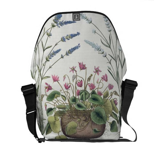 Cyclamen and Lavender: 1.Cyclamen Romanum; 2.Spica Courier Bags