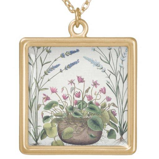 Cyclamen and Lavender: 1.Cyclamen Romanum; 2.Spica Jewelry