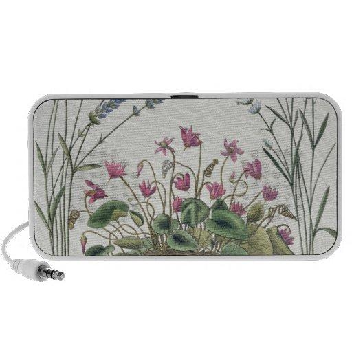 Cyclamen and Lavender: 1.Cyclamen Romanum; 2.Spica Notebook Speaker