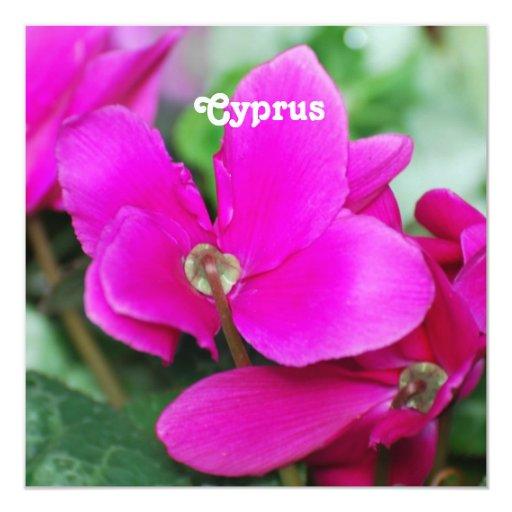 Cyclamen de Chipre Invitacion Personal