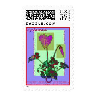 Cyclamen Flower Postage