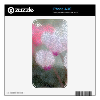 Cyclamen Flowers Mosaic Skins For The iPhone 4S
