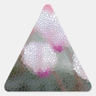 Cyclamen Flowers Mosaic Triangle Sticker
