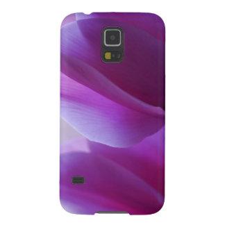 Cyclamen púrpura fundas para galaxy s5