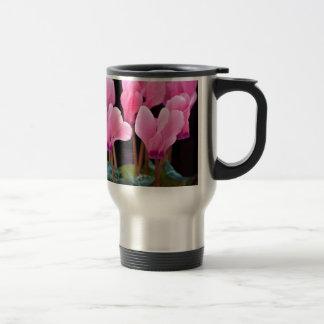 Cyclamen rosado tazas de café